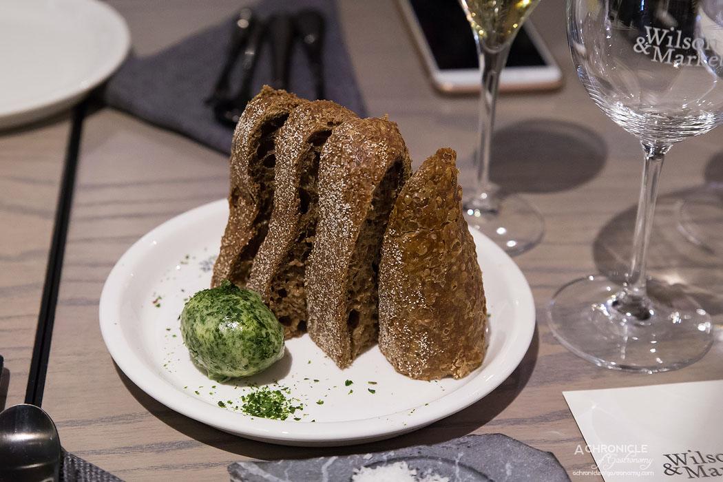 Wilson & Market Brasserie - 28-hr fermented soir sourdough and seaweed butter