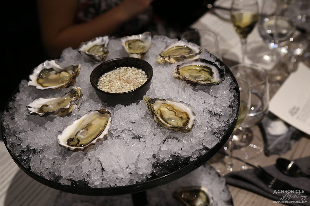 Wilson & Market Brasserie - Artisanal rock oysters w celeriac and horseradish mignonette - Wonboyn Lake, Pambula Lake, Clyde River