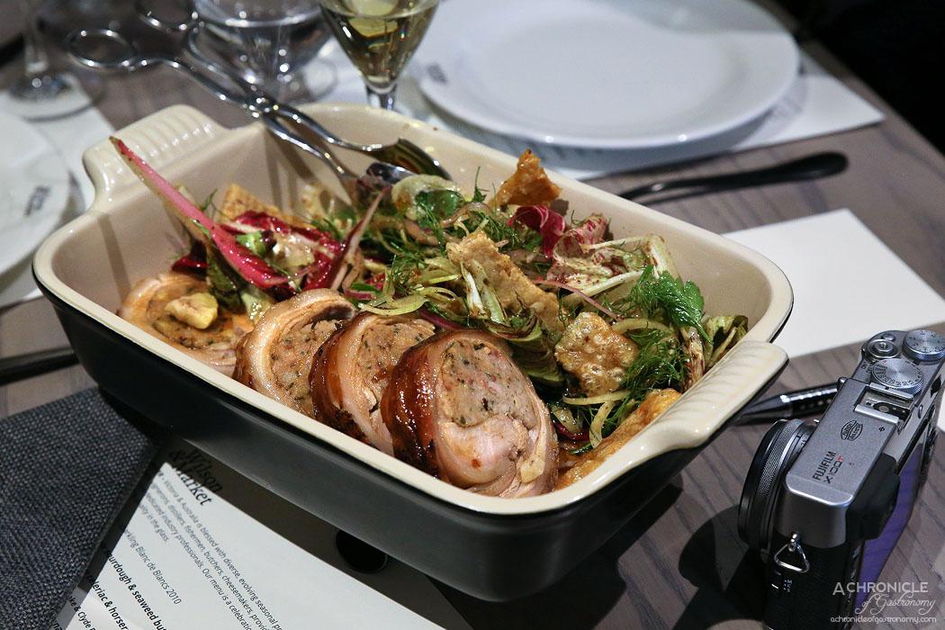Wilson & Market Brasserie - Porchetta, organic fennel and radicchio salad with mustard fruits