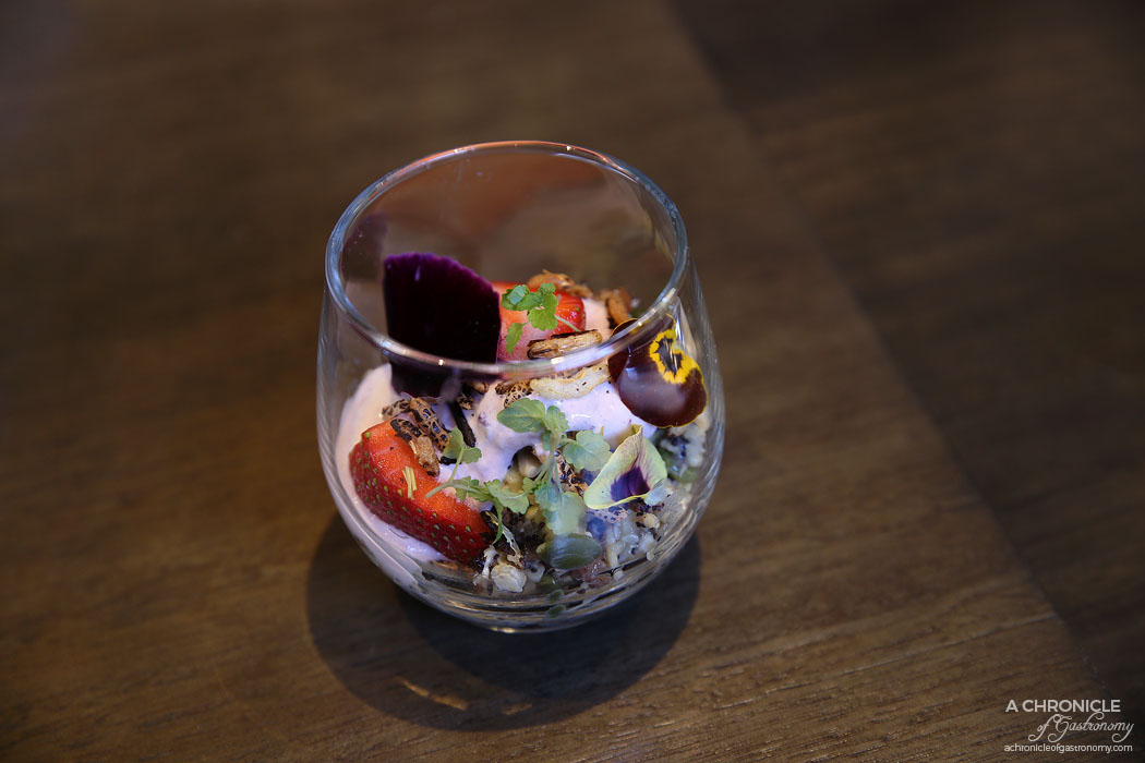 CH James - Muesli, berry yoghurt, puffed rice