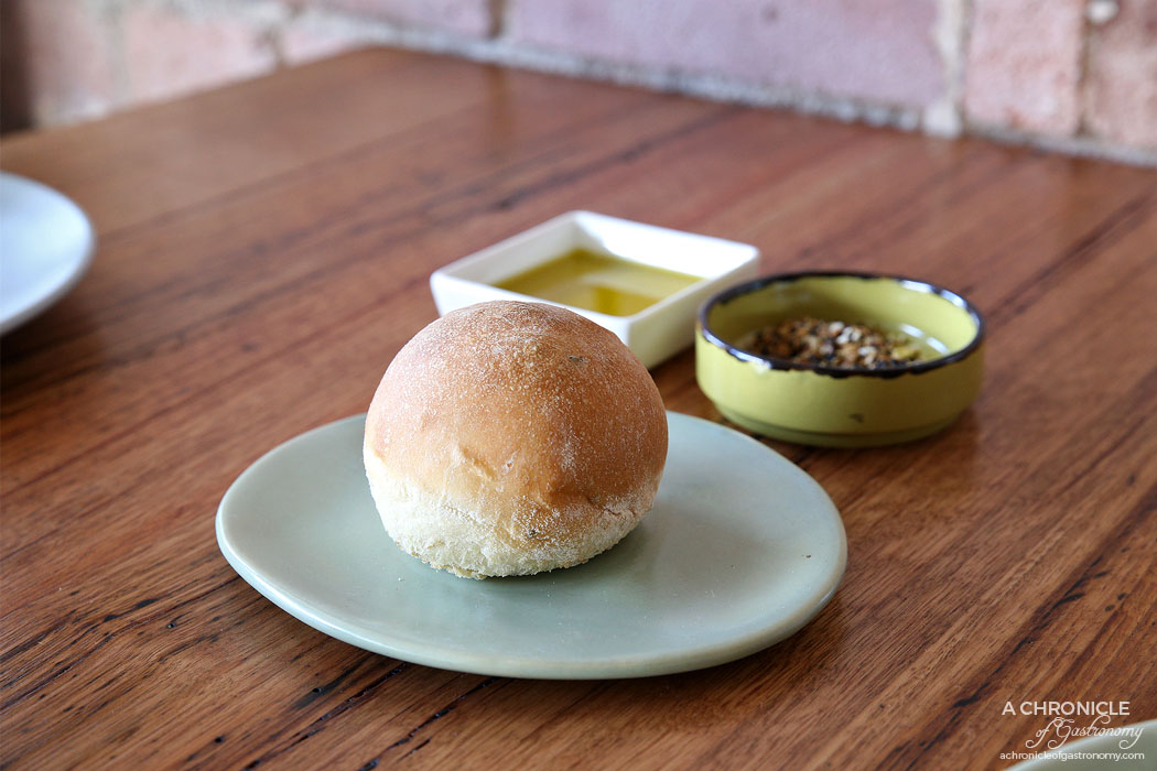Camus - Black cumin seed bread roll, Grampians olive oil, dukkah