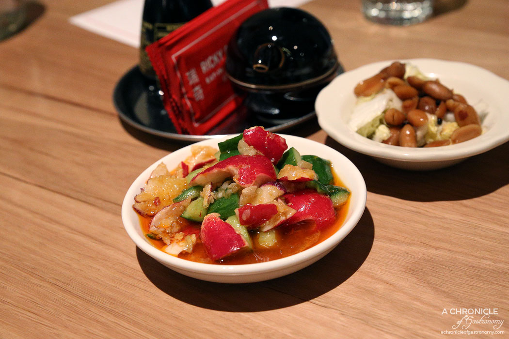 Ricky and Pinky - Smashed cucumber and radish, fragrant chilli oil, peanuts and wombok