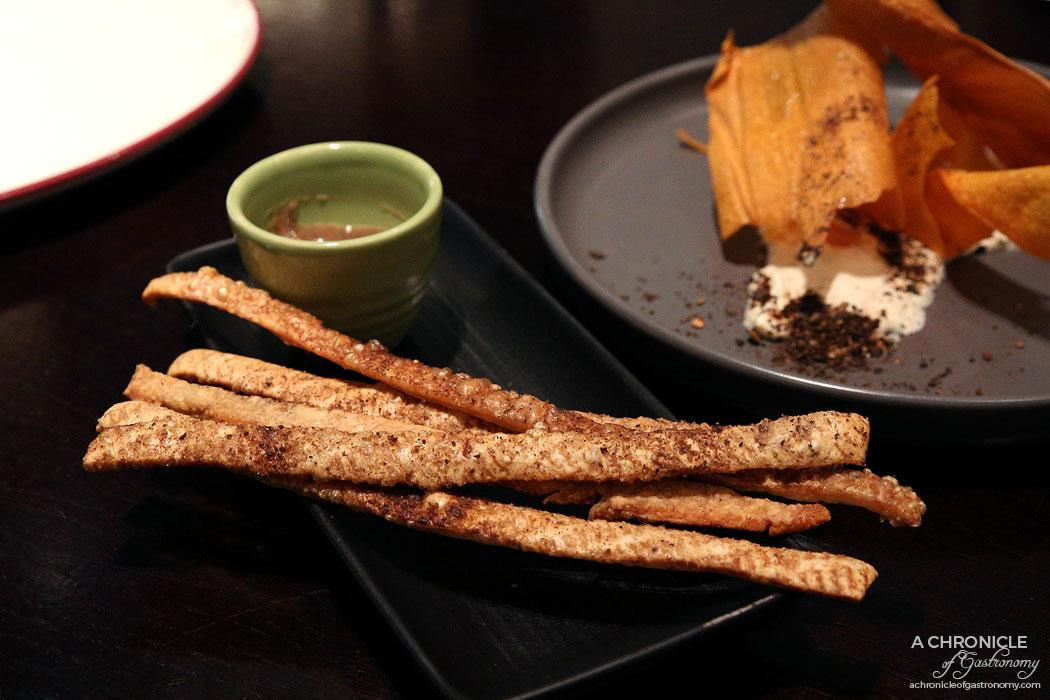 Burn City Smokers Pop-up Grand Hyatt - Pork scratchings, Old Bay Spice ($6)
