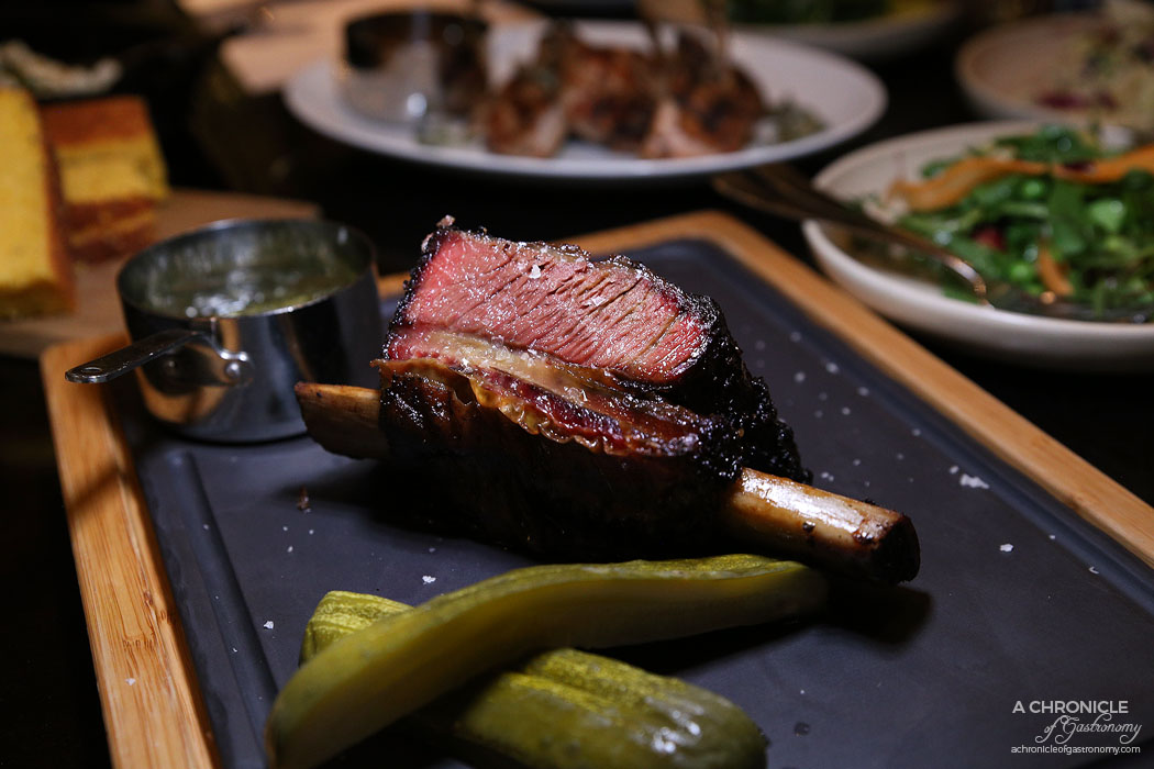 Burn City Smokers Pop-up Grand Hyatt - 8-hr smoked Tasmanian short rib, chimmichurri ($46)
