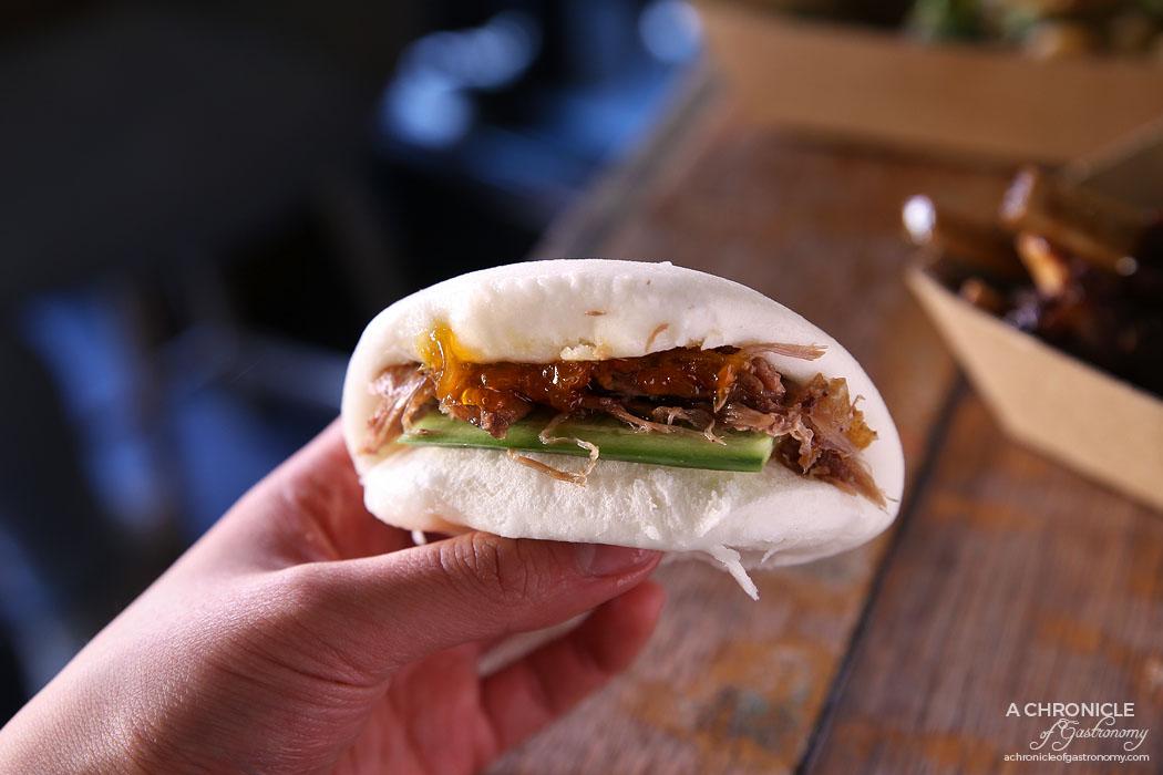 Rice Paper Scissors Fitzroy - Spring Yum Cha - Twice cooked duck leg bao with mandarin jam