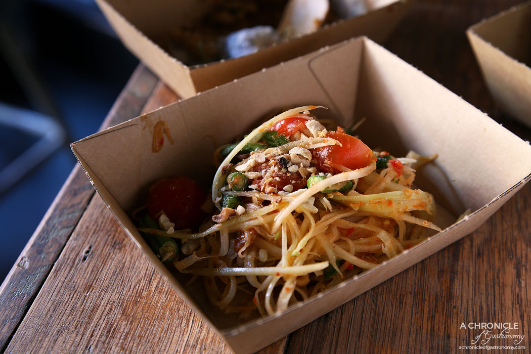 Rice Paper Scissors Fitzroy - Spring Yum Cha - Papaya salad dried shrimp green beans peanuts