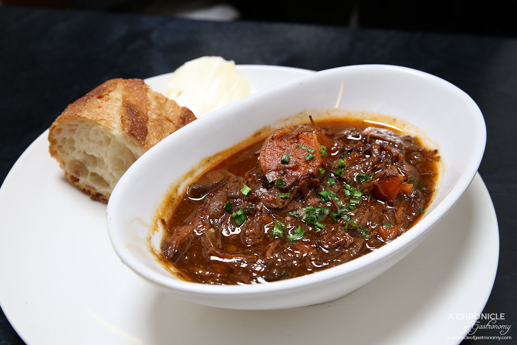 Fortify - 48 hour beef bourguignon slow infused w garden herbs, carrots and Beaujolais