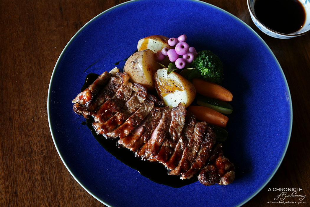 Nobori - Wagyu Loin (Nobori Special) - grilled loin strips w seasoned vegetables, potato and special dipping sauce ($45)
