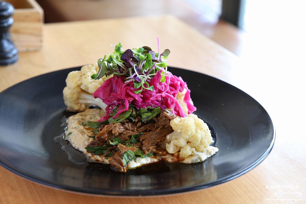 Barry - Lamb shoulder, smoky eggplant, cauliflower, pickled cabbage ($19.50)
