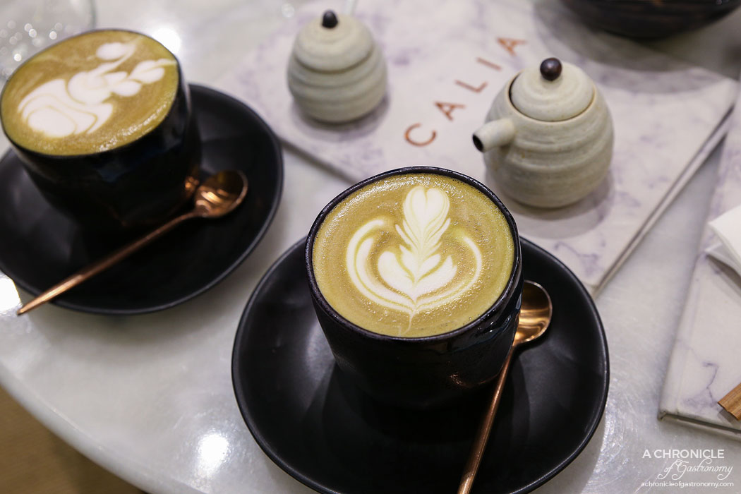 Calia - Hojicha latte ($5)