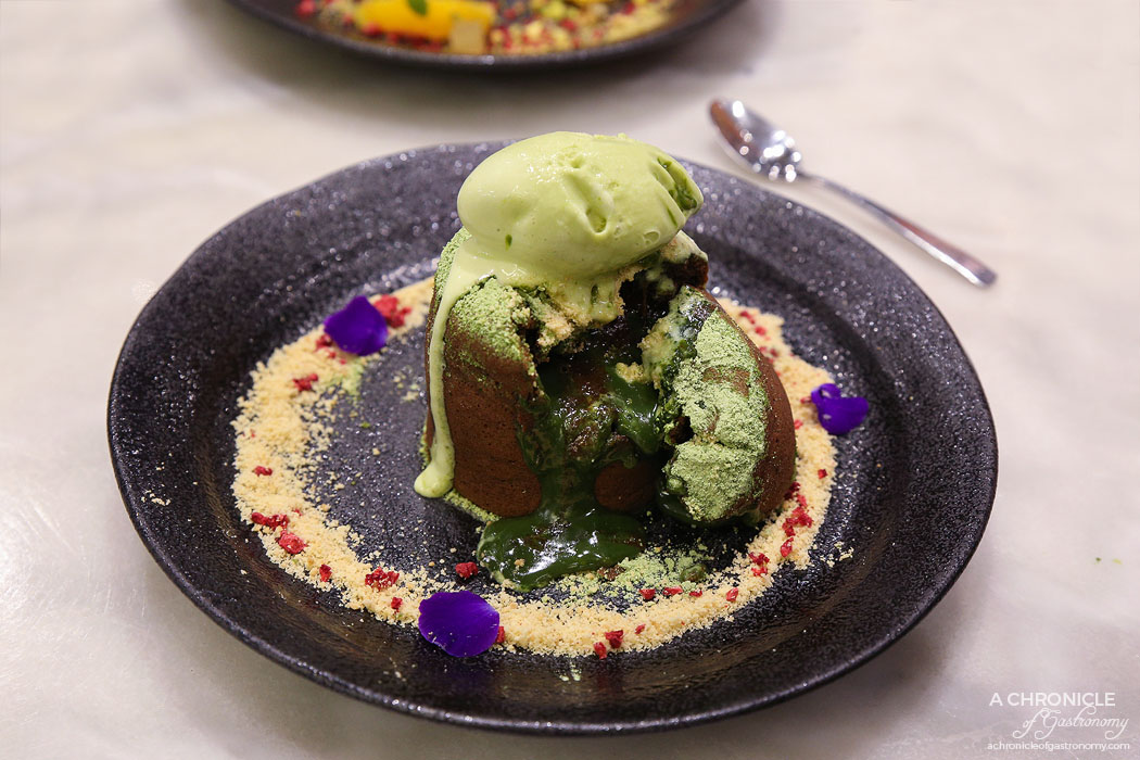 Calia - Matcha Lava Lava - Chocolate lava cake with warm matcha ganache ($14.90)