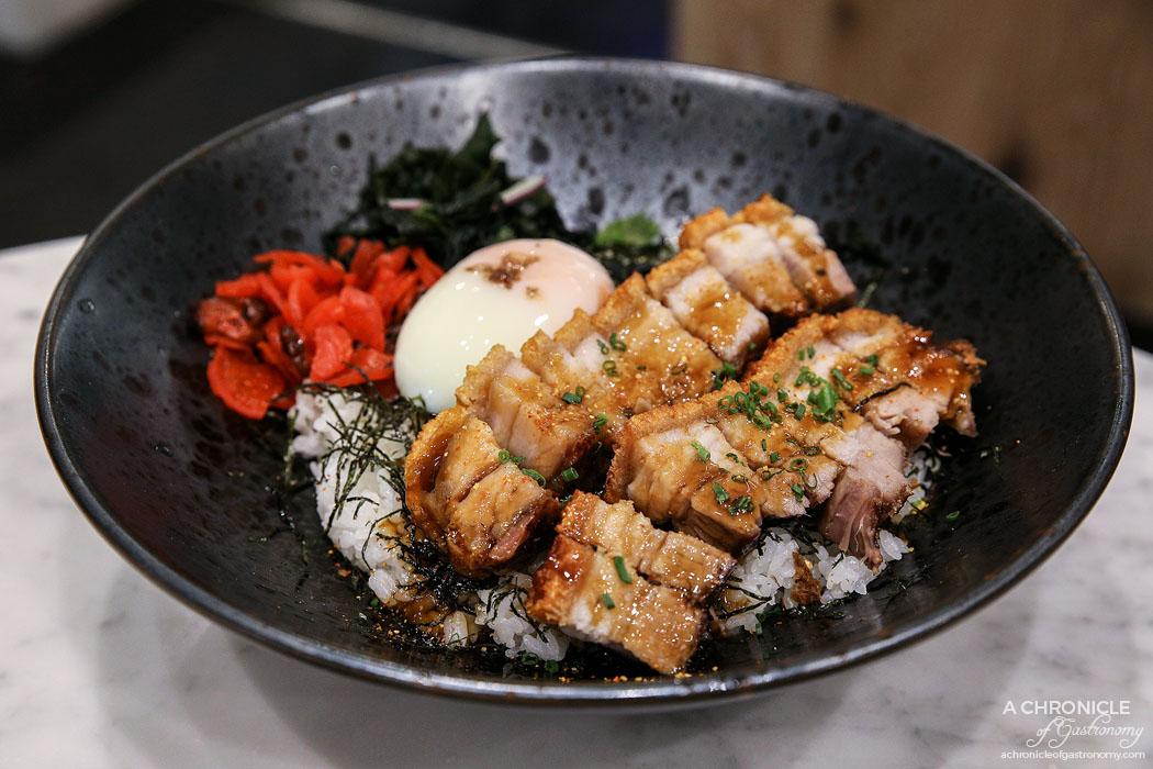 Calia - Crispy Roast Pork Bowl w ginger sauce and 63 degree egg ($16.90)