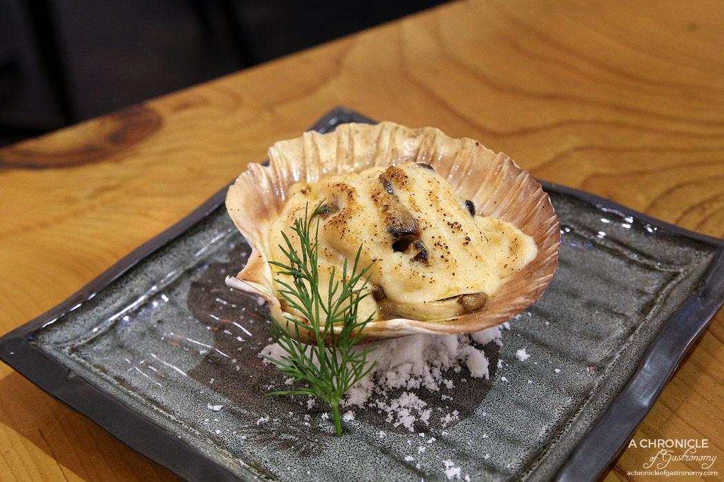 Fujitei - Hotate Yaki - Hokkaido (Japanese scallop), pan seared in Japanese sake ($9 ea)