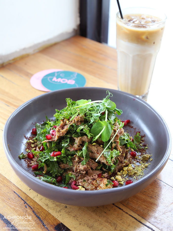 My Other Brother - Fried cauliflower braised lamb salad w pomegranate, pistachio, kale, sumac and Middle Eastern labne ($22.50)