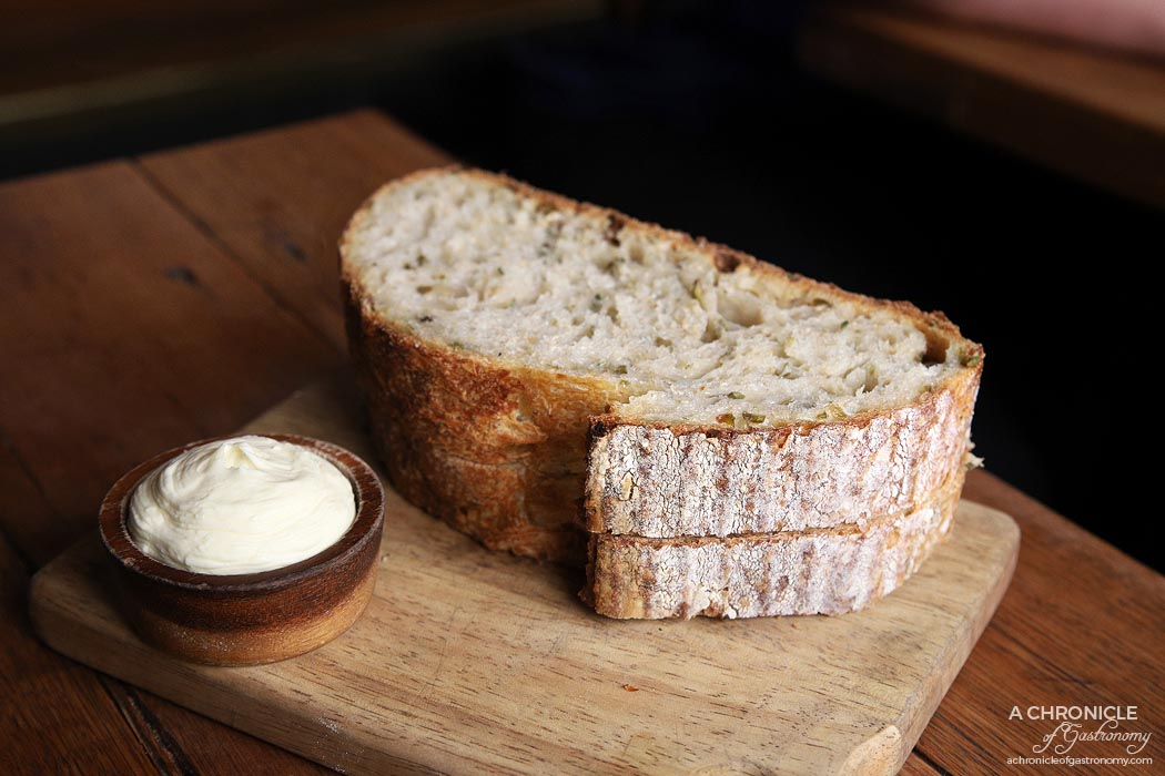 Embla - Green olive sourdough, cultured cream ($5)