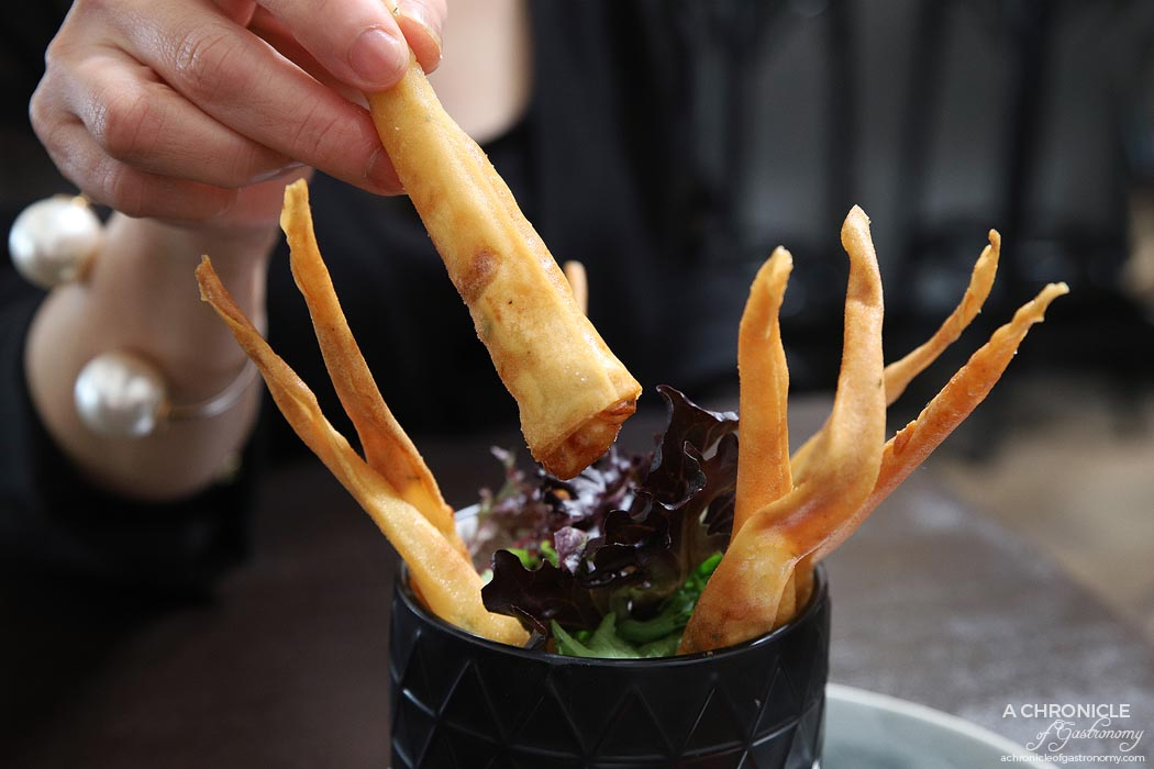 Spencer and Co - Prawn Twisters - Garlic school prawns encased in crispy pastry with chilli lime sauce ($15.50)
