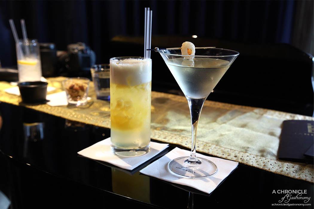 Finch and Jane - Steamy Nights - Vodka, Triple Sec, Peach Liqueur, Vanilla Syrup, Lemon Juice, Egg White, Passionfruit ($17) Lychee Martini - Lychee Liqueur, Vodka, Apple, Lychee ($14)