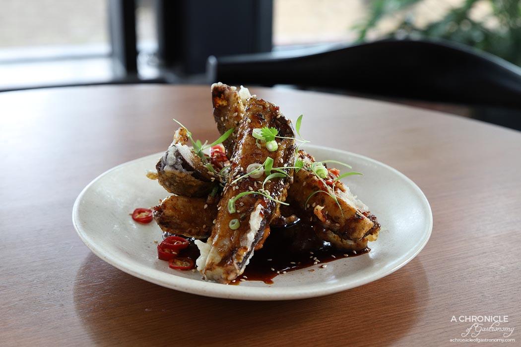 Jamu - Crispy Eggplant w chilli vinegar sauce ($17)