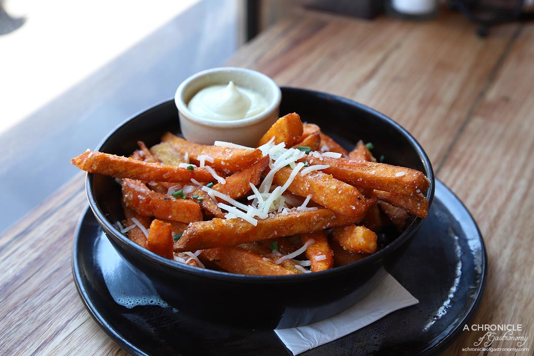 Stovetop - Sweet potato chips w truffle and parmesan ($9)