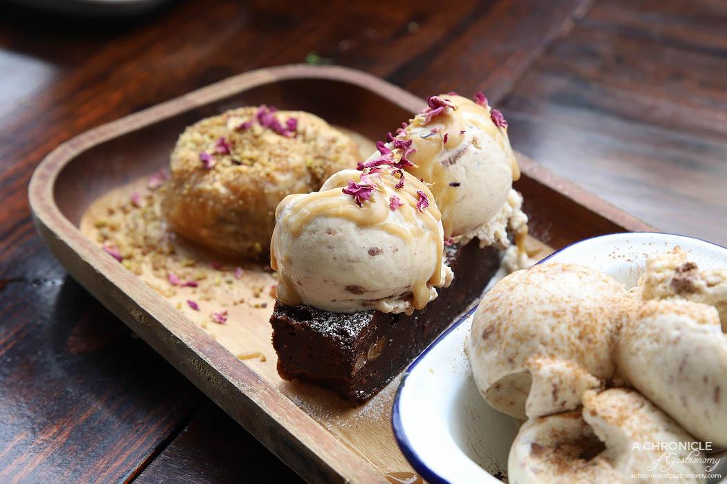 Bahari - Dessert Special - Brownie w halva ice cream ($9) Halva Ice Cream ($8.50)