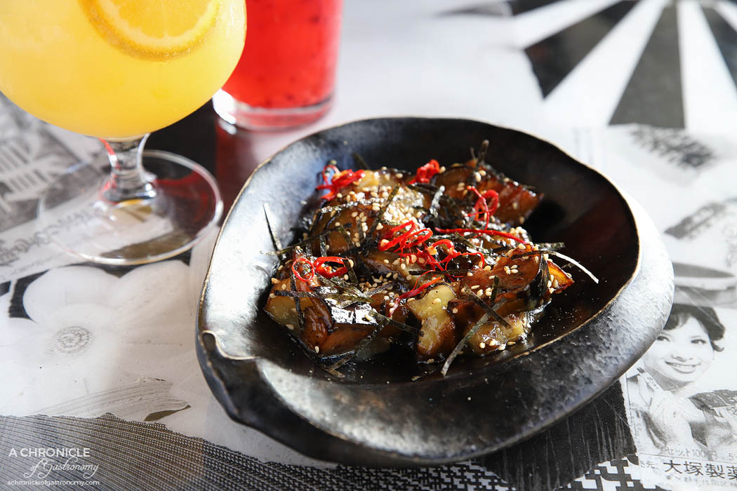 Tokosan - Sweet Eggplant Miso w nori, chilli, sesame seeds ($12)