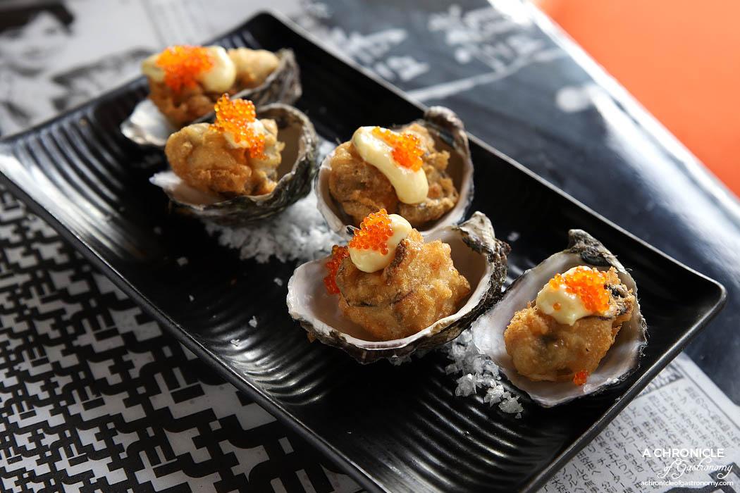 Tokosan - Tempura Oysters w Tokosan mayo and caviar ($5 ea)