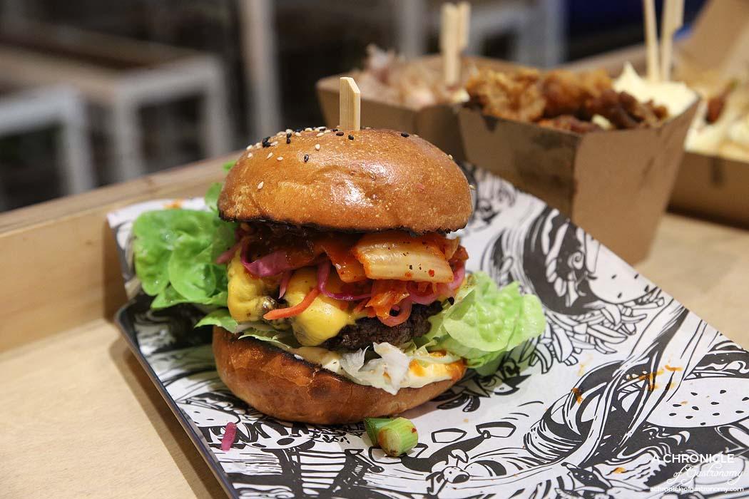 Kung Fu Burger - Gangnam Style - Pure beef patty, Korean mayo, kim chi, Asian slaw and cheese ($12)