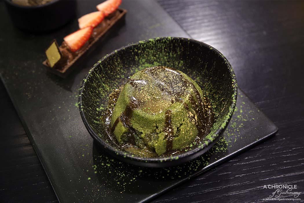 Matcha by Chokolait - Hojicha matcha lava cake, chocolate mousse tart, hojicha ice cream