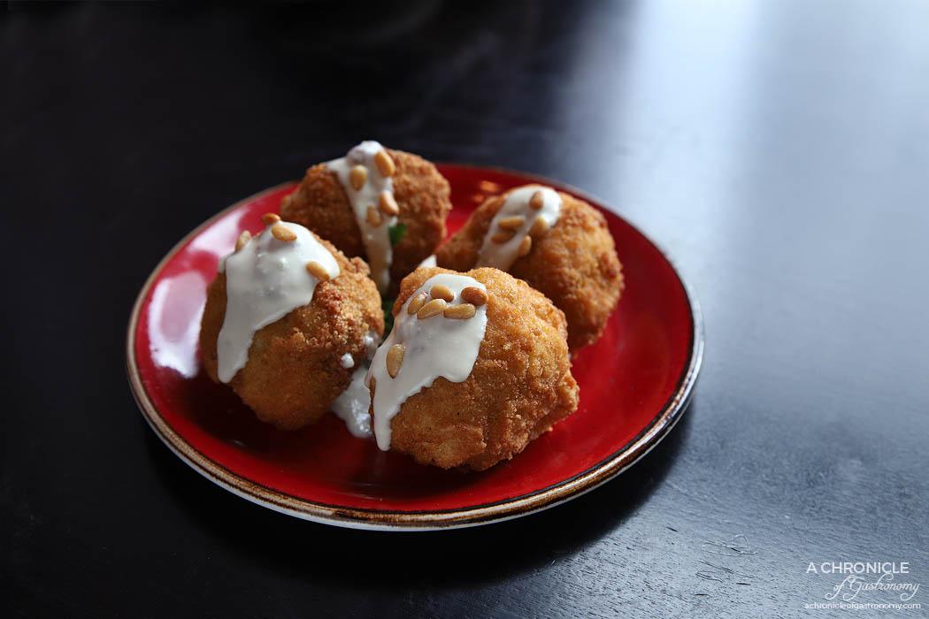 Mama Rumaan - Fried Cauliflower - Lightly battered stalks and tahini (4 for $11)