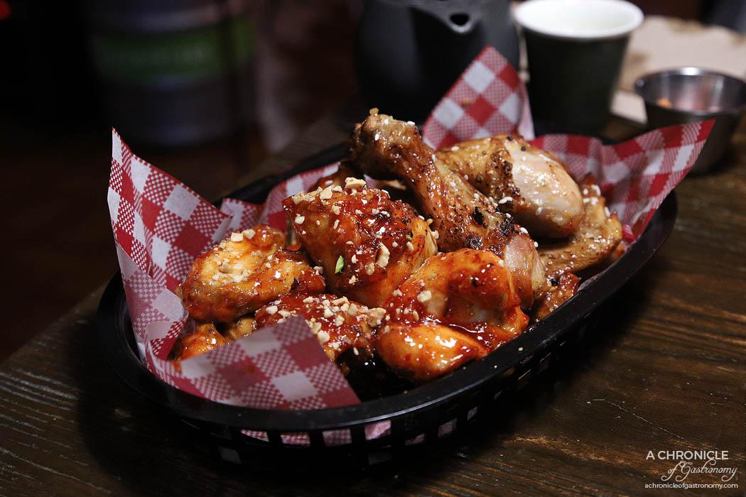 Goodovening - Half & Half Roasted Chicken - Sweet and spicy, honey soy garlic ($34)