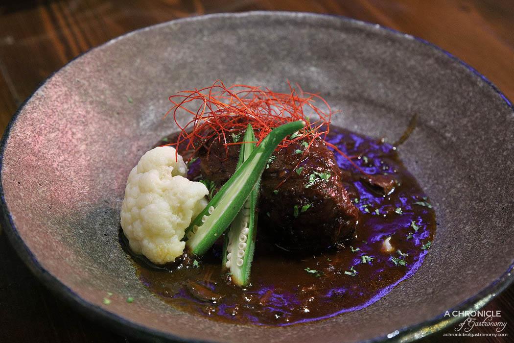 Izakaya Kuuraku - Slow cooked wagyu beef stew w red wine, soy sauce, tonkatsu sauce, mirin, onion ($28)