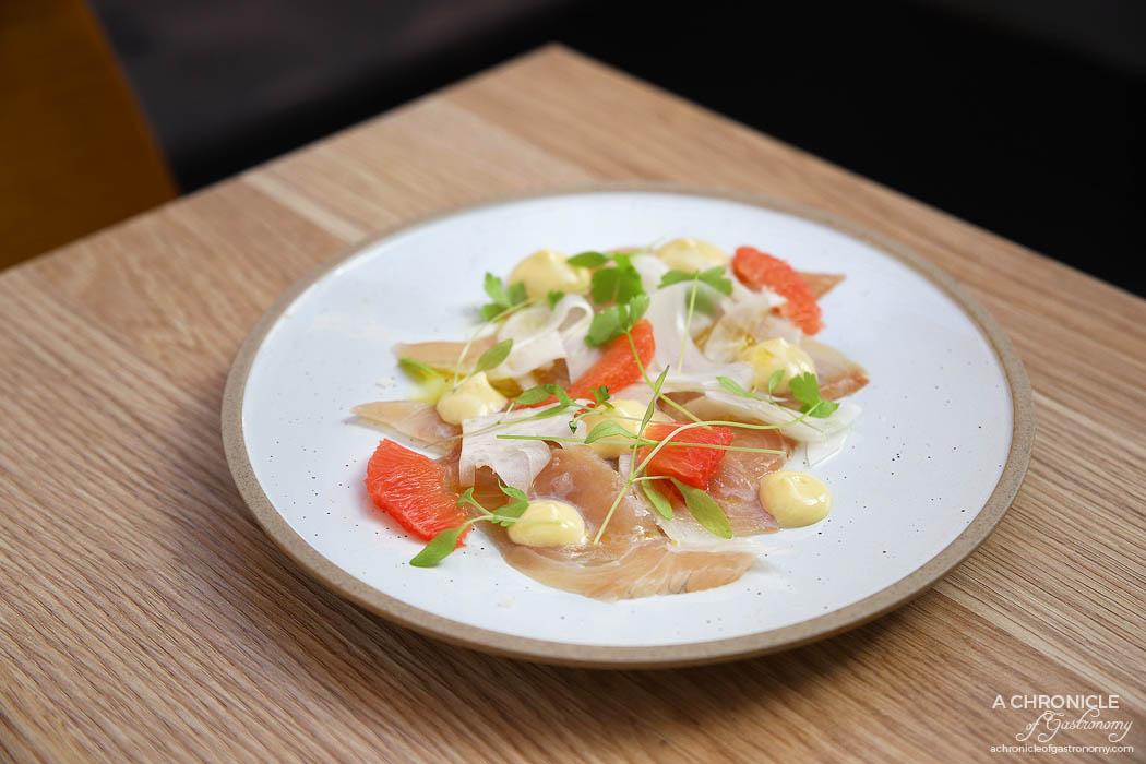 Pembroke - Kingfish, fennel, grapefruit, lime mayonnaise ($18)