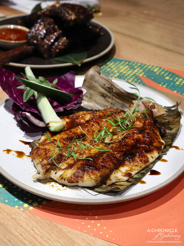 Makan - Grilled Jimbaran fish, sweet tamarind glaze, seasonal raw salad