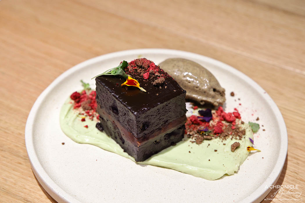 Makan - Mocha cake, avocado mousse, Balinese coffee ice cream, dark chocolate ganache ($13)