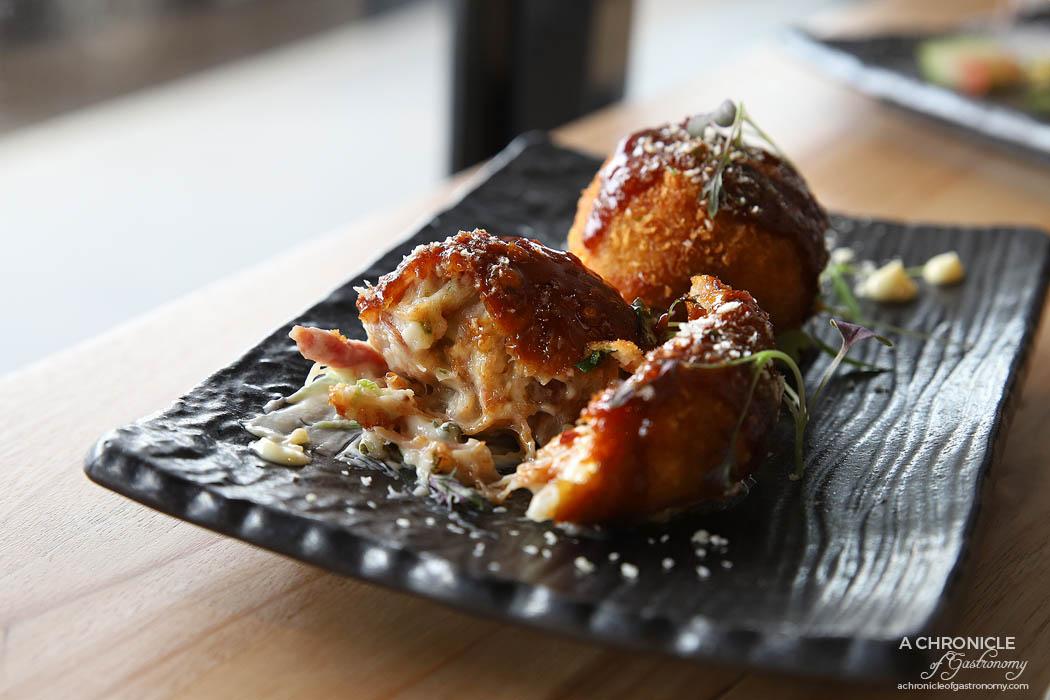 Tora - Smoked hock croquettes, chilli tonkatsu sauce, karashi mayo (2 for $10)