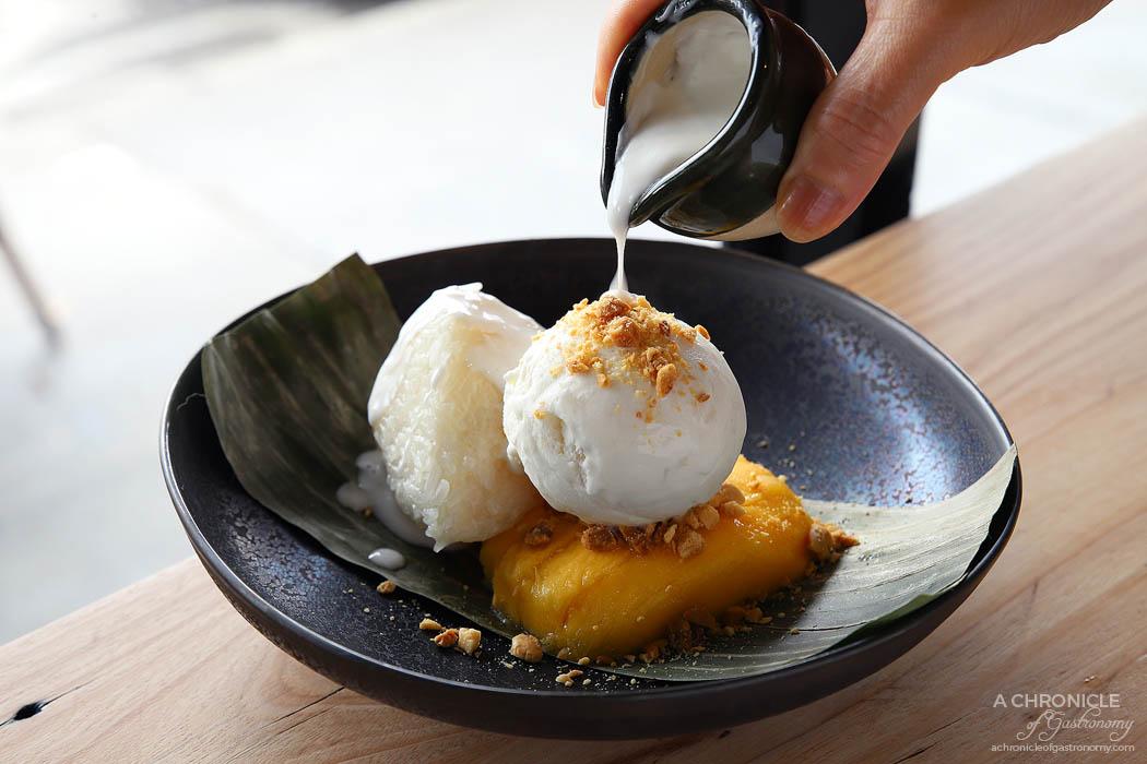 Tora - Khao Neow Ma Muang - Mango, sweet sticky rice, peanuts, coconut ice cream ($14)
