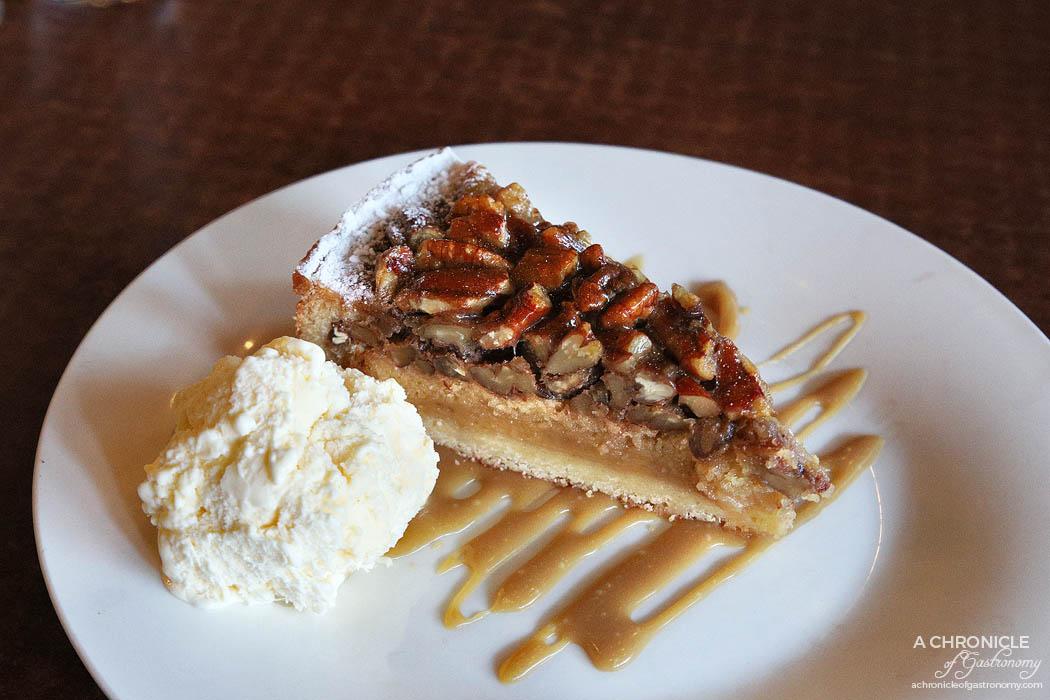 Bluestone American BBQ - Maple Pecan Pie with caramel sauce and vanilla ice cream ($9.90)