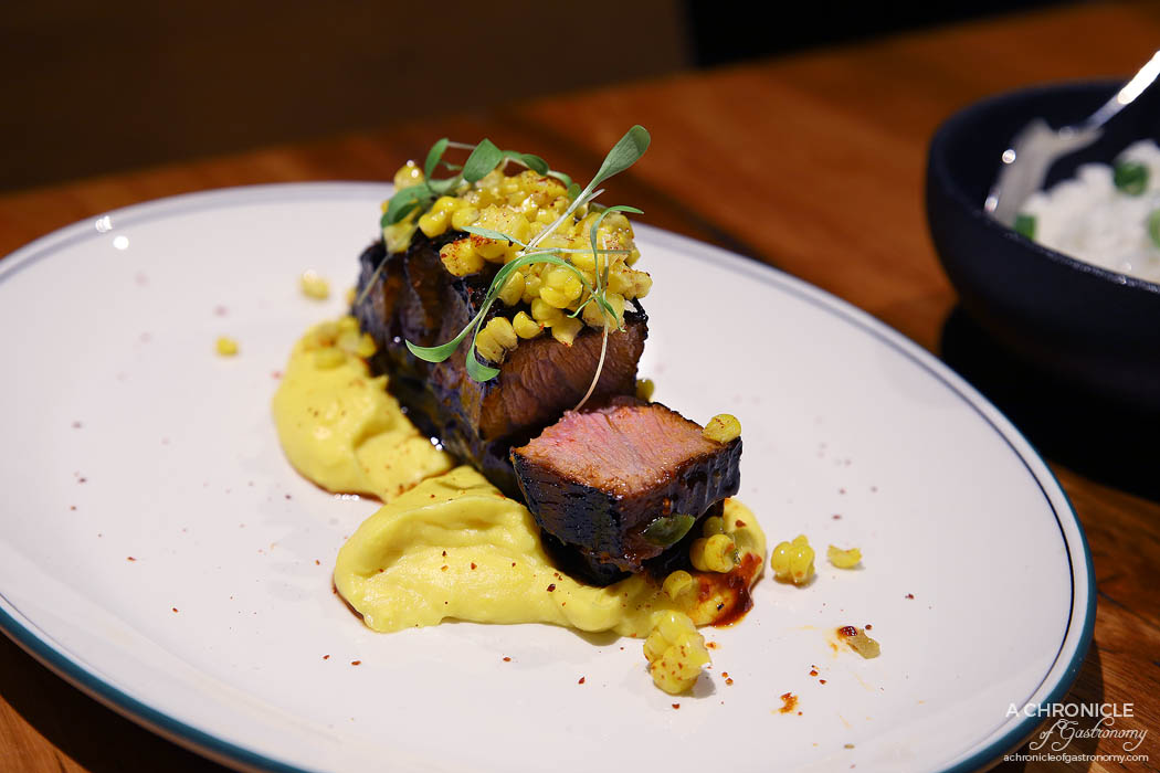 The Black Toro Windsor - BBQ Beef Short Rib - 24hr cooked short rib, aji panca, corn salsa ($36)