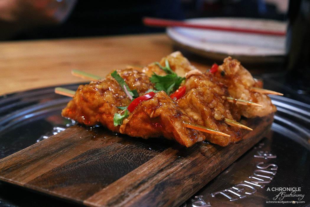 Co Hanh - Shaking Tofu - Crispy Wok Tossed Tofu With Soy Garlic Sauce