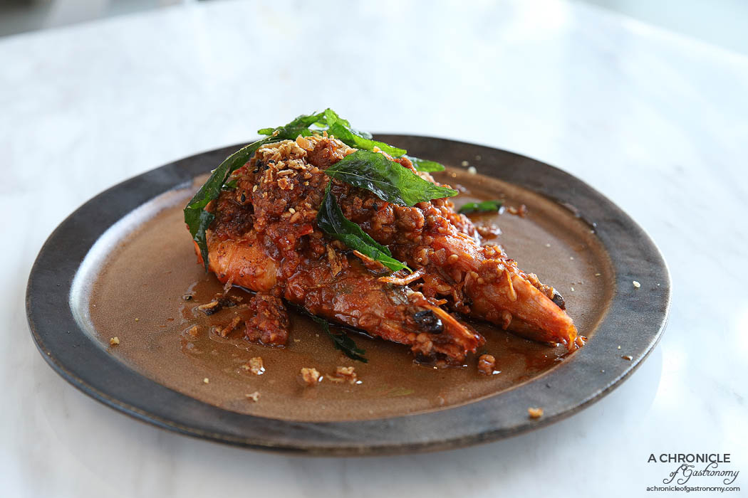 Zero Mode - Drunken Prawns - Chargrilled king prawns served with jiu niang rice paste (2 for $13.80)