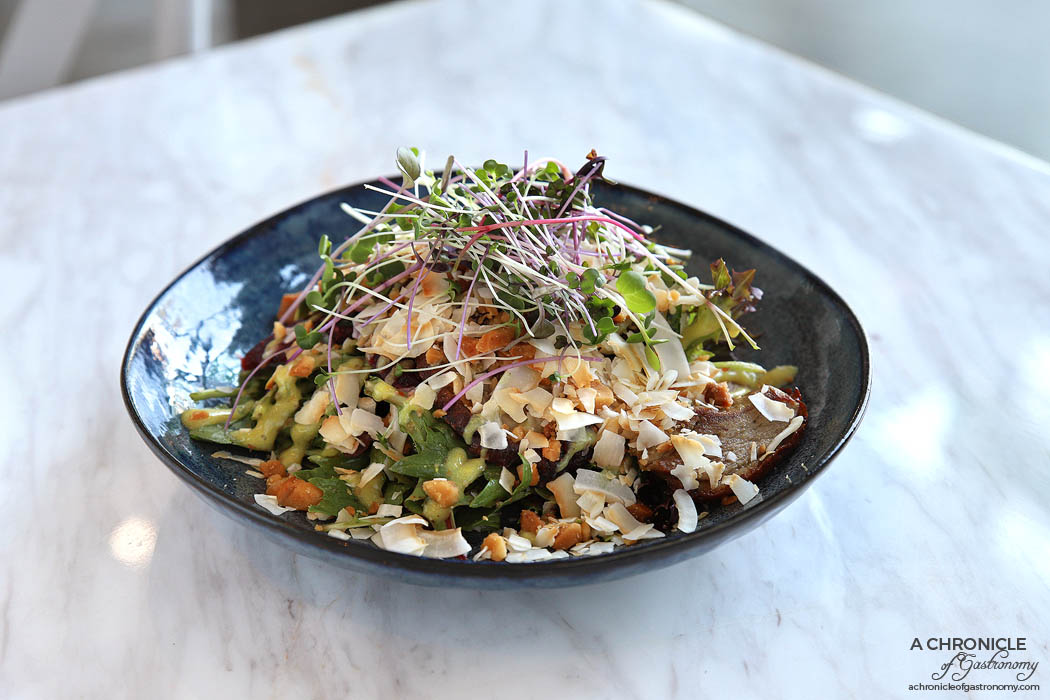 Zero Mode - Duck Salad - Watercress & beetroot salad, honey mustard dressing, lychee, macadamia & fresh chilli ($18.80)