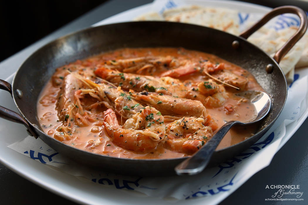 Hey Little Fishy - Prawn Saganaki ($17)