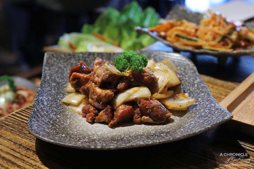 Dancing Flame Charcoal Grill - Hot and spicy diced lamb ($21,80)