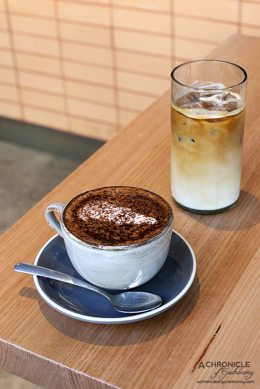 Gontran Cherrier - Decaf Cappuccino ($3.80) and Iced Coffee ($4.30)