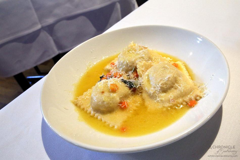 Cosi - Quail ravioli, butter, sage, parmesan ($22)