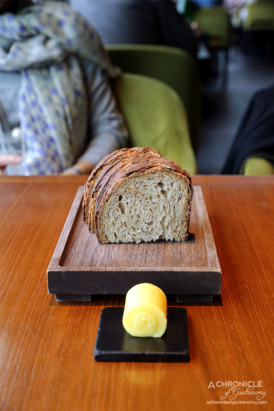 Dinner by Heston - Rye sourdough and salted butter