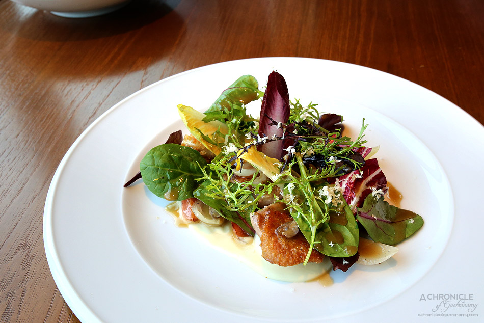 Dinner by Heston - Salamagundy (c.1720) - Chicken oysters, braised radish, horseradish cream, marrowbone & pickled walnuts ($37)