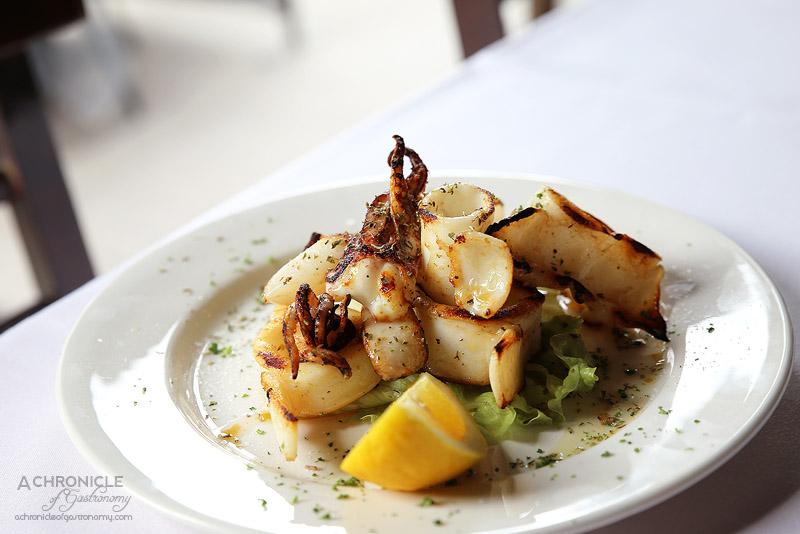 Agapi - Grilled calamari ($19.50)
