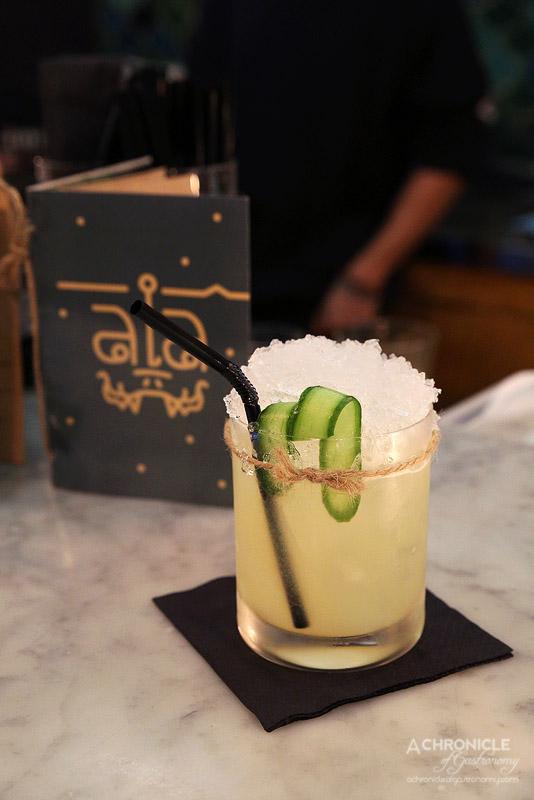 Chalawan - Tie Me Down - Eristoff Vodka, Lemongrass, Cucumber, Citrus, Pandan, Orange Blossom ($22)