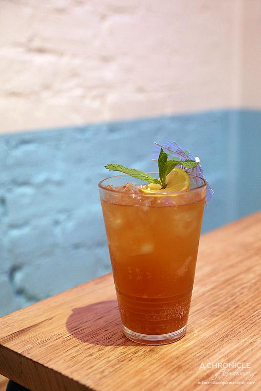 Son in Law - PP Island Ice Tea - Kahlua, Sang Som Thai Rum, Brandy, Frangelico, Whiskey, Bitters, Ginger Beer ($18)